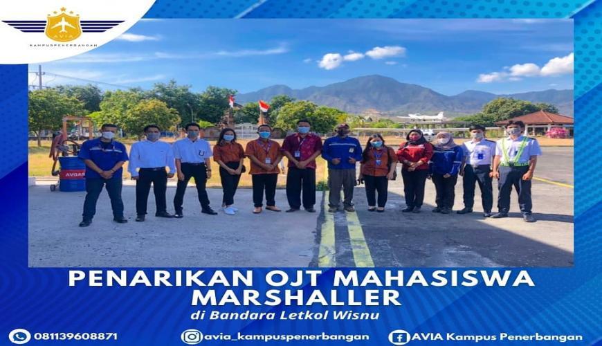 Serah Terima Siswa OJT MARSHALLER di Bandara Letkol Wisnu